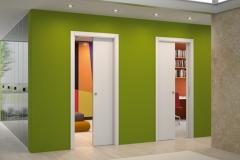 Parede drywall com porta